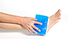 cold compress to cure leg pain relief