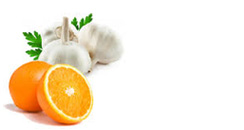 garlic and orange juice