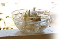 garlic and water