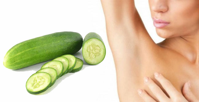 underarm whitening with cucumber
