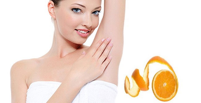 underarms whitening with orange peels