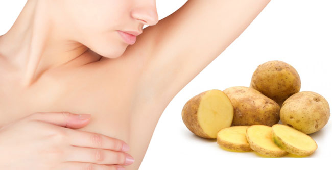 underarm whitening with potatoes