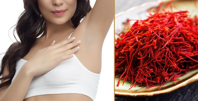underarm whitening with saffron