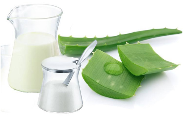 aloe vera and rosewater for face