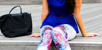 printed top and leggings