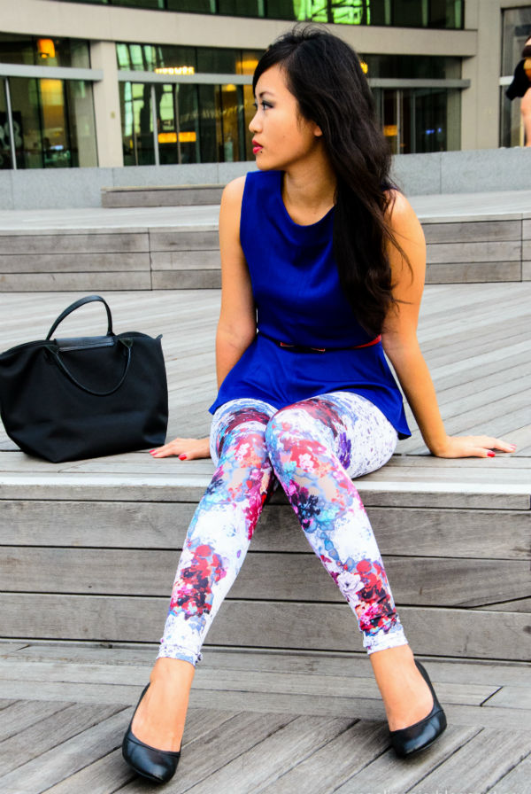 printed top and leggings
