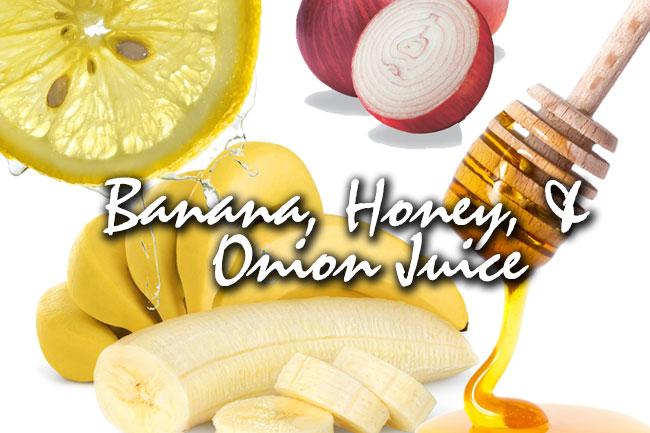 banana honey onion juice mask for hair