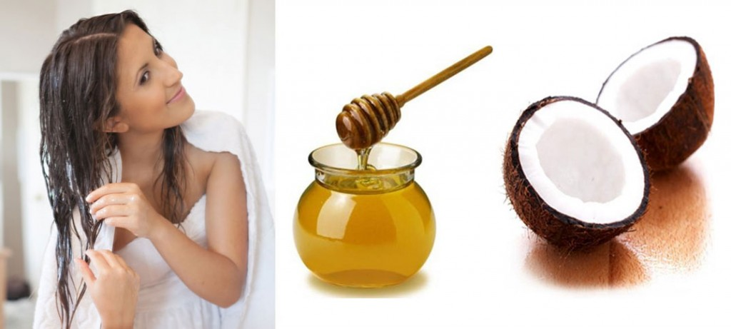 coconut oil and honey hair mask