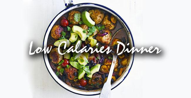 dinner low calaries food