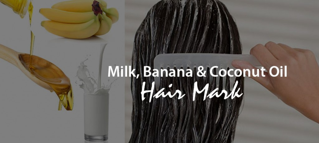 hair conditioner with banana milk and coconut oil