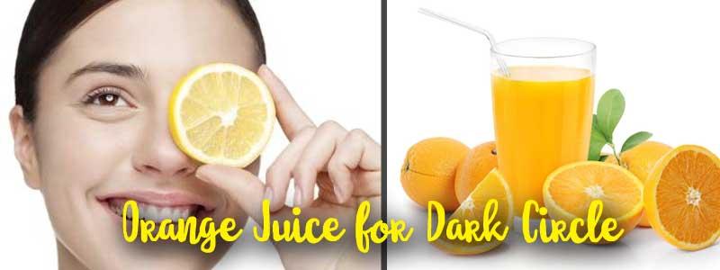 orange juice dark circle