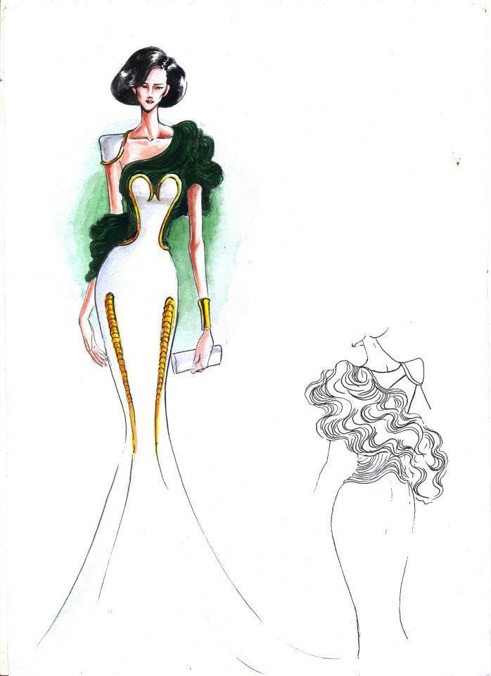fashion illustration dresses