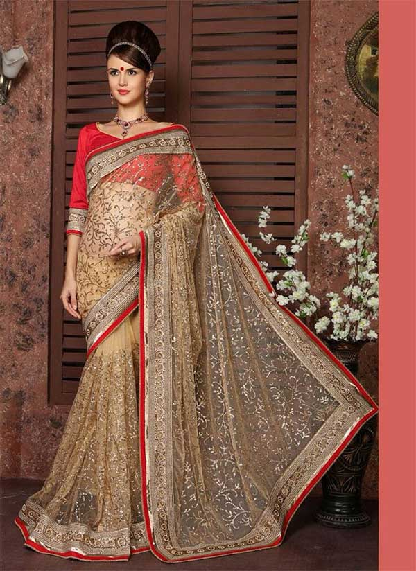 honeymoon designers saree