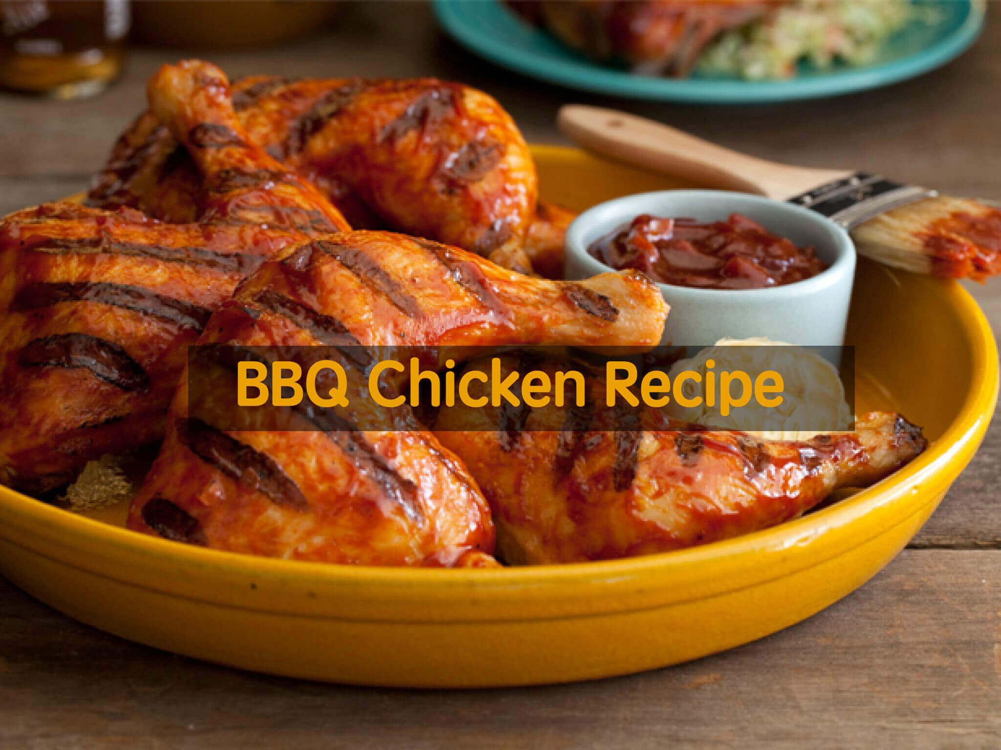 making bbq chicken