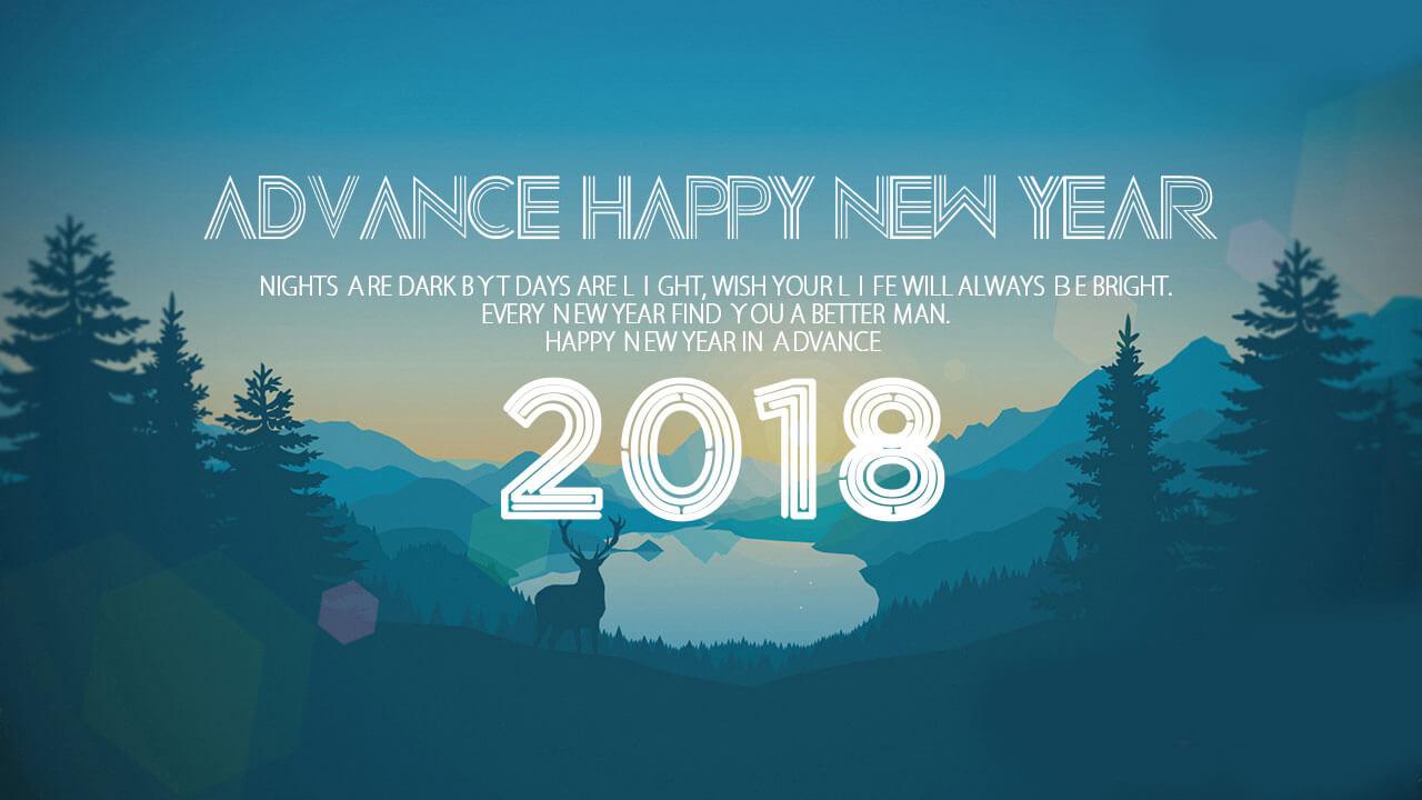 Advance Happy New Year 2018